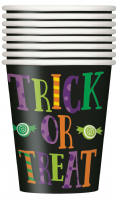 Silly Halloween Monsters Paper Cups (8)
